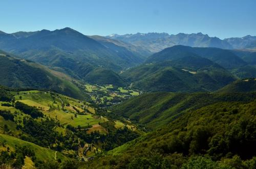 looking down from Col D'Aspin